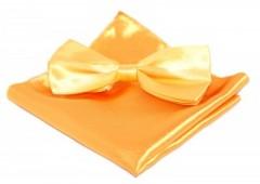 Szatén csokornyakkendő szett - Aranysárga