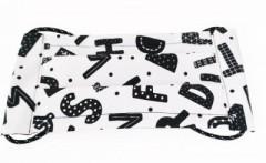 Pamut gyerek bélelt arcmaszk - Betűmintás (Magyar termék) Egészségügyi termékek