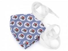 Pamut szájmaszk - Kék mintás Egészségügyi termékek