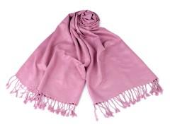 Kendő pashmin rojtokkal - Rózsaszín