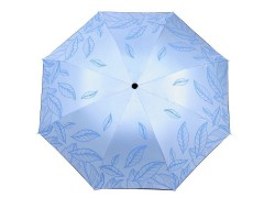 Női összecsukhatós esernyő levél mintás - Kék