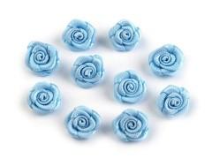 Mini textil virág 10 db/csomag - Világoskék