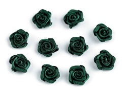 Mini textil virág 10 db/csomag - Sötétzöld