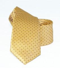 Goldenland slim nyakkendő - Aranysárga pöttyös