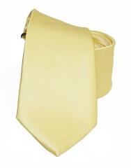 NM szatén nyakkendő - Halványsárga