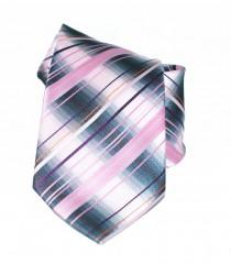 NM classic nyakkendő - Szürke-rózsaszín csíkos