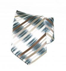NM classic nyakkendő - Barna-szürke csíkos